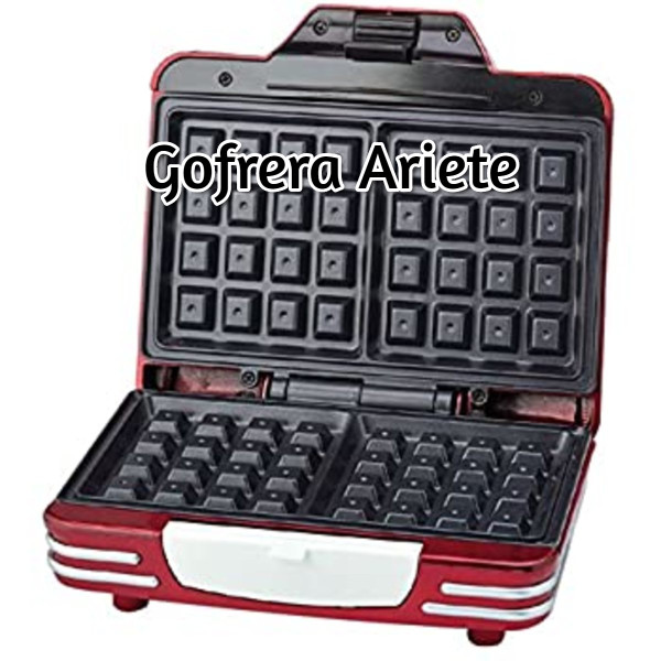 Gofrera Ariete 187 Party Time, 700 W de Acero inoxidable 3